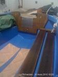 Tableau arrière terminé du canot breton